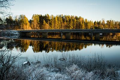 Vinter ved Fennefossbrua