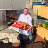 Chef Anthony goes whole hog on the patio.