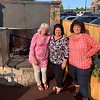Enjoying the outside are, from left, Denise Daigle of Ayer, Mary White of Groton and Lynne Laramie of Nashua