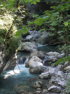 Beautifull rocks at Tolmin gorge