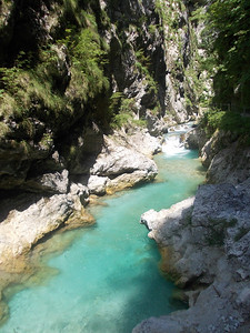Incredibly blue water @ Tolmin gorge