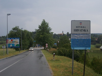 Entering wet Croatia