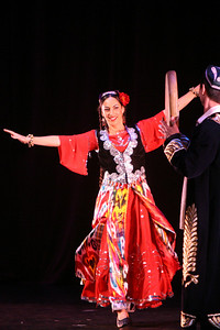 Miriam Peretz dances a traditional solo shodiona (dance of happieness) from Central Asia with drummers Abbos Kosimov and Salokhiddin Fakhriev.  The Ethnic Dance Festival began its 1st weekend in celebration of its 30th anniversary at the Palace of Fine Arts Theater in San Francisco.  A total of four weekends which present 36 different ethnic dance ensembles representing cultures from all over the world.  World Arts West whose mission is to promote cultural understanding and to promote a universal appreciation of diverse dance traditions throughout the world presents the event.