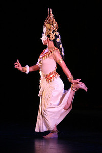 """Charya Burt with the Khmer Arts Academy present a classical  Cambodian piece called, """"Robam Apsara"""". The Ethnic Dance Festival began its 1st weekend in celebration of its 30th anniversary at the Palace of Fine Arts Theater in San Francisco.  A total of four weekends which present 36 different ethnic dance ensembles representing cultures from all over the world.  World Arts West whose mission is to promote cultural understanding and to promote a universal appreciation of diverse dance traditions throughout the world presents the event."""