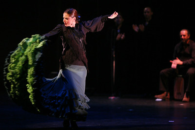 """Carola Zertuche of Theatre Flamenco, dances to her own choreography in a piece called, """"Al Compase del Tiempo"""".The Ethnic Dance Festival began its 1st weekend in celebration of its 30th anniversary at the Palace of Fine Arts Theater in San Francisco.  A total of four weekends which present 36 different ethnic dance ensembles representing cultures from all over the world.  World Arts West whose mission is to promote cultural understanding and to promote a universal appreciation of diverse dance traditions throughout the world presents the event."""