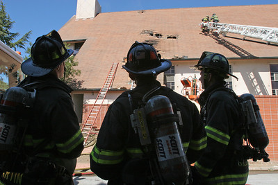 At 2:27pm the RWC Fire Dept. was alerted to what eventually became a three-alarm fire at Redwood City Baptist Church.  The Fire, which began in the attic, was contained there.  There were no injuries reported.