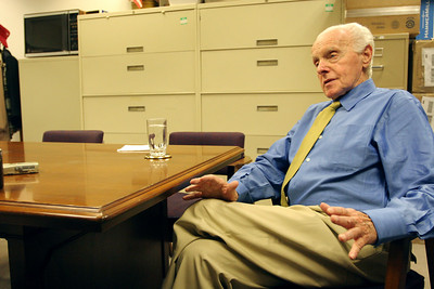 Congressman Tom Lantos during an interview with the Examiner at his offices in San Mateo.