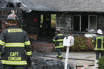 At 6:49am, a fire burned down a home in Belmont causing 1.2 million dollars in damage.  The fire department had the flames under control by 8:00am.  There were No fatalities and one Fire Fighter was injured.