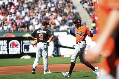 Jerry Rice Celebrates his Home Run