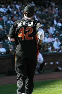 Gavin Newson flies out.