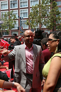 Unknown All Star walks into AT&T park on the red carpet during the parade entrance for the players on the day of the All Star game.