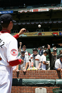 Boston Redsox Player Buchholz  signs autographs before the Futures game.