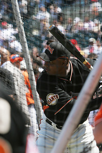 Barry Takes Batting Practice.