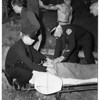Boy falls off derrick, 1951