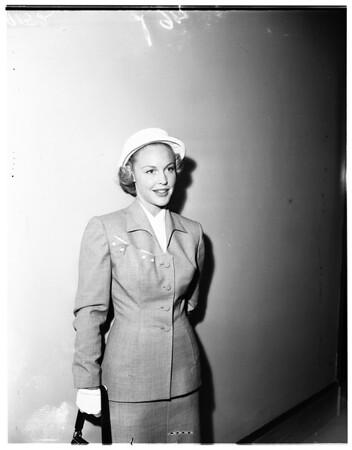 Pre-divorce custody settlement, 1951