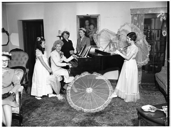 Cammelite nuns luncheon plans, 1951