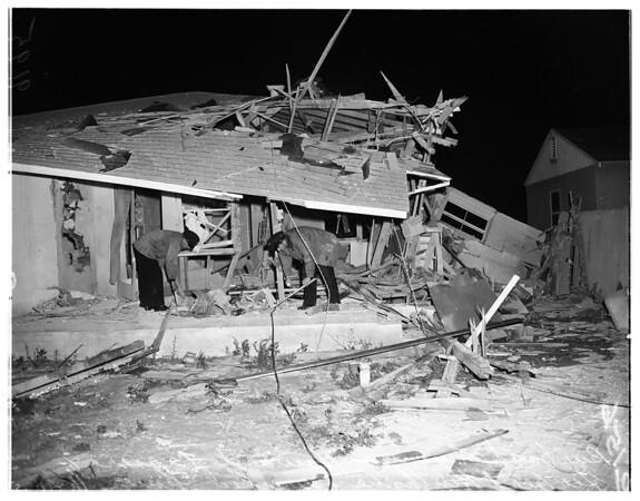 Home blast...Burbank, 1951