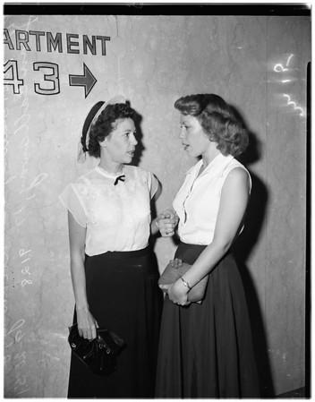 Shooting husband trial, 1951