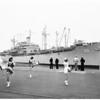 "U.S.S. ""Bayfield"" arrival in San Diego, 1951"