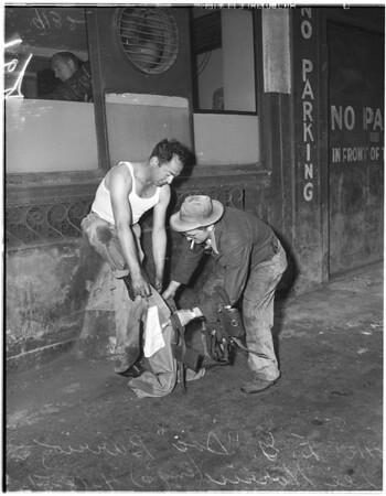 Ammonia line break on 4th Street...Downtown, 1951