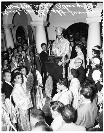 Greek candlelight services, 1951