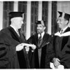 Inaugral commencement exercises for University of Judiasm at Sinai temple, 1951