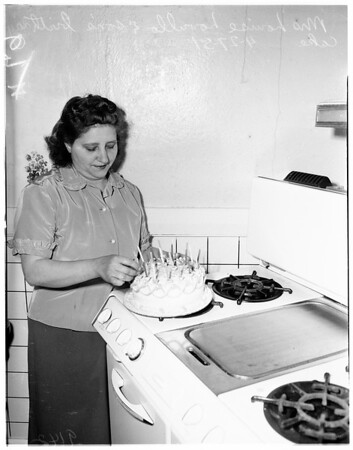 Birthday cake, 1951