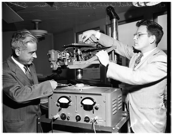 Thyroid electronic etcher, 1951