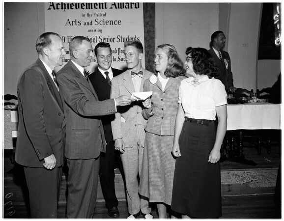 Bank of America achievement award dinner, 1951