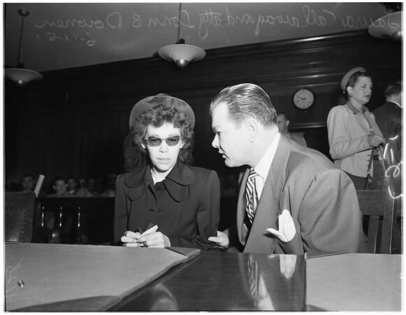 Burbank cop preliminary hearing, 1951