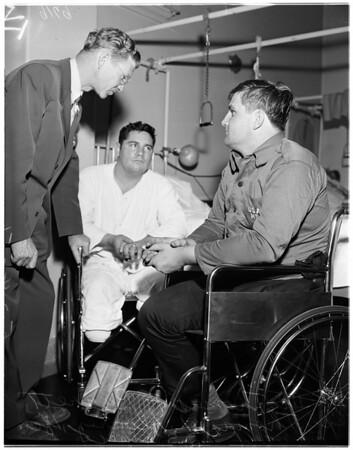 First Korean vets to enter Wadsworth Hospital, 1951