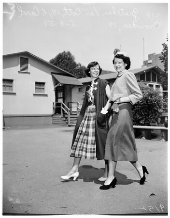 Teenage fashion show (Bancroft Junior High), 1951
