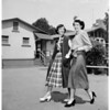 Teenage fashion show (Bancroft Junior High), 1951