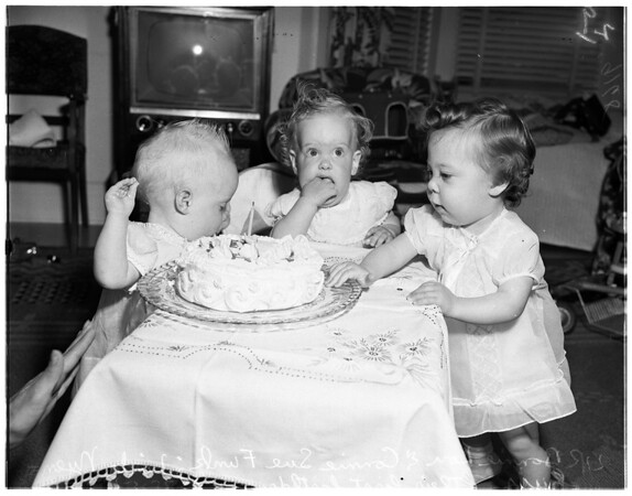 Three incubator babies birthdays, 1951