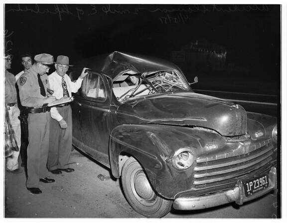 Auto Accident -- Slauson, 1/2 mile East of Sepulveda, 1951