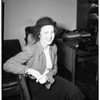 Alimony hearing, 1951
