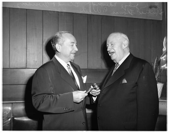 Judge Brand reception, 1951