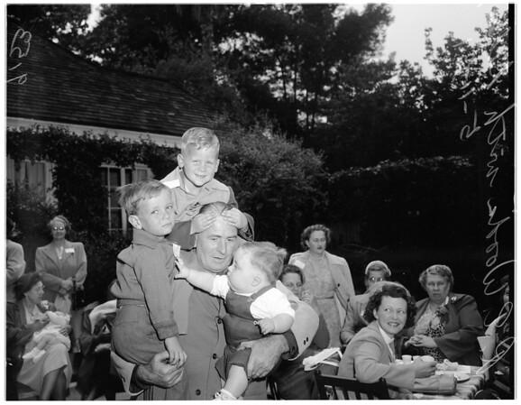 Los Angeles County Bureau of Adoption party (Pasadena), 1951