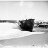 Grounded fishing barge...Redondo Beach, 1951