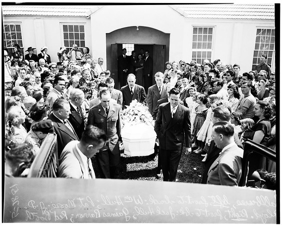 Patricia Hull funeral, 1951