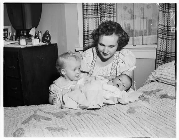 Kids of Navy man, April 16, 1951