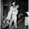 Italian bride of soldier arrives at Union Station, 1951