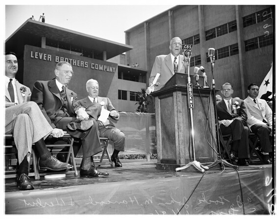 Lever brothers opening, 1951
