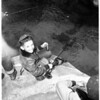Trout fishing (west fork in San Gabriel River), 1951