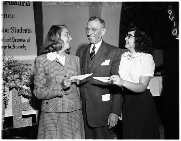 Bank of America achievement award dinner, 1951