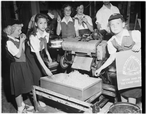 Campfire Girls, Bishops Candy Factory, 1951