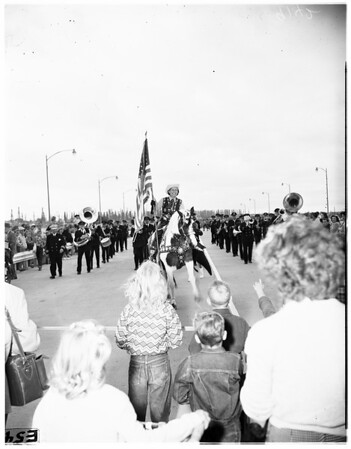 Belhart Bridge opening (Long Beach), 1951