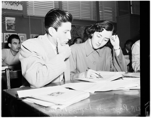Citizenship classes, 1951