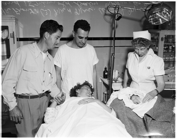 Baby born in Hollywood Receiving Hospital, 1951