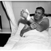 Rattlesnake victim at Georgia Street Hospital, 1951